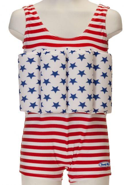 Beverly Kids - UV Floating Swimsuit Kids- American Dream - 0