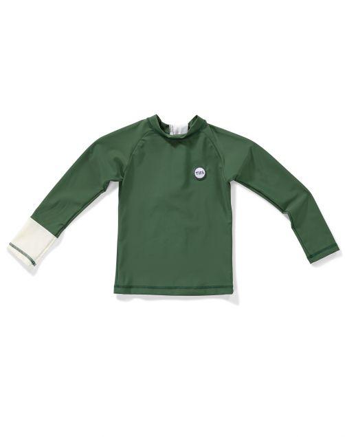 Tenue-de-Soleil---UV-Swim-shirt-for-children---Samu---Summer-Olive
