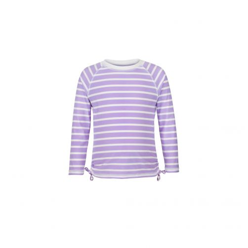Snapper Rock - Lavender Stripe LS Rash Top - 0