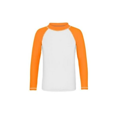 Snapper Rock - Neon Orange LS Rash Top - 3