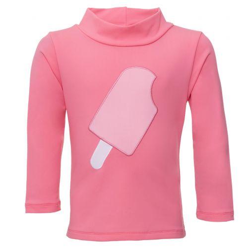 Petit Crabe - UV Swim shirt longsleeve - Popsicle - Pink - Front