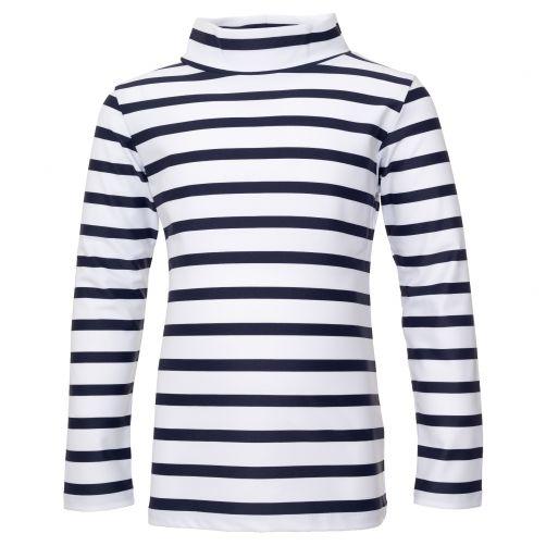 Petit Crabe - UV Swim shirt longsleeve - Striped - White/Navy - Front