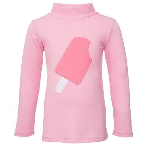 Petit Crabe - UV Swim shirt longsleeve - Popsicle - Light Pink - Front