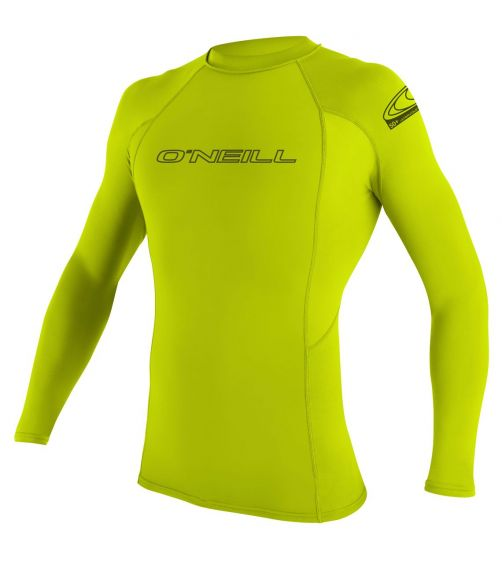O'Neill---Men's-UV-shirt---Longsleeve---Basic-Rash---Lime