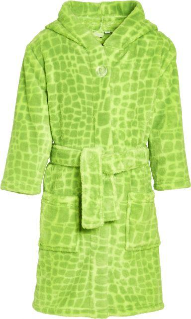 Playshoes---Fleece-bathrobe-for-boys---Dino---Green