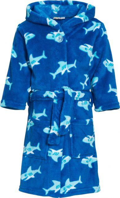 Playshoes - Fleece Bathrobe with hoodie - Shark - Front