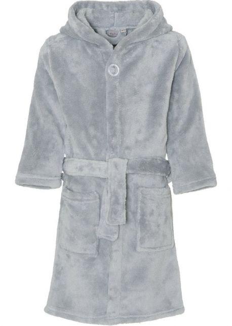 Playshoes - Fleece Bathrobe with hoodie - Grey - Front