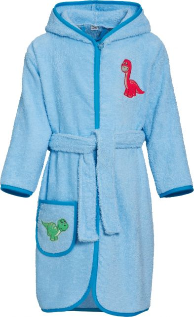 Playshoes - Bathrobe with hoodie for boys - Dino - Front