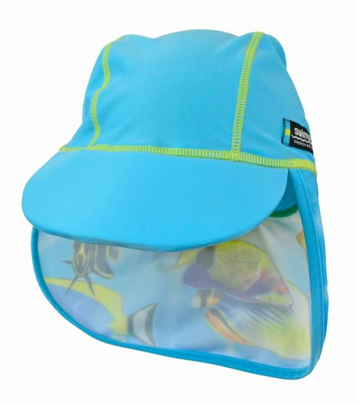 Swimpy---UV-Swim-Cap-Kids---Fish-Turquoise