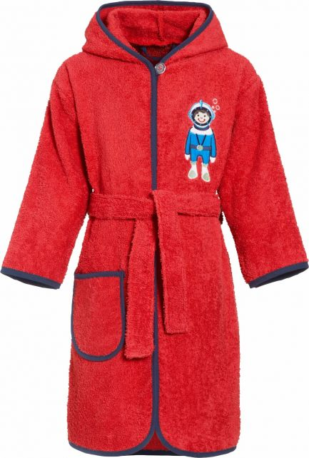 Playshoes - Bathrobe with hoodie for boys - Diver - Front