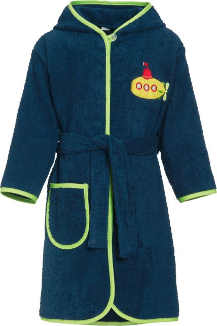 Playshoes - Bathrobe with hoodie for boys - Submarine - Front