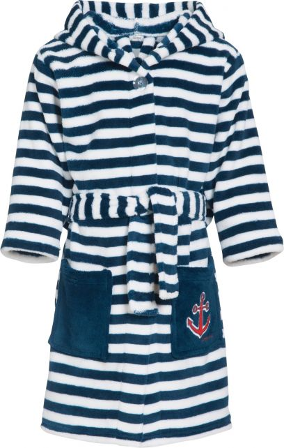 Playshoes - Fleece dressing gown for children - Maritime - Navy/white - 3
