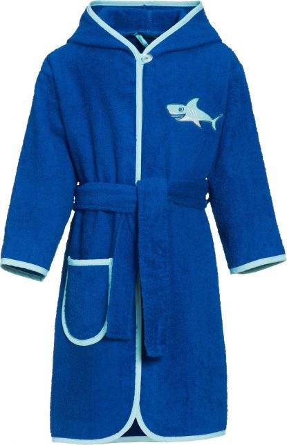 Playshoes - Bathrobe with hoodie for boys - Shark - Front