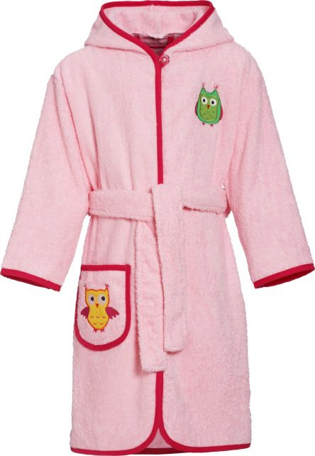 Playshoes - Bathrobe with hoodie for girls - Owl - Front