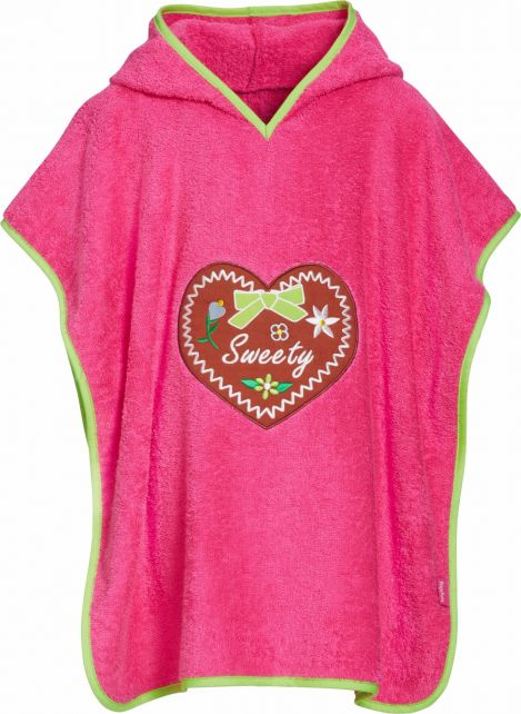 Playshoes - Baby towel with hoodie - Sweetheart - Front