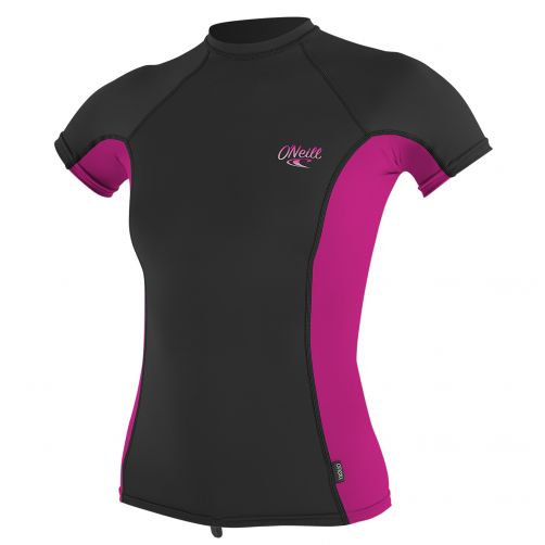 O'Neill---Women's-UV-shirt---short-sleeve---pink-/-black