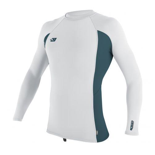 O'Neill---Men's-UV-swim-shirt---long-sleeved---white/teal
