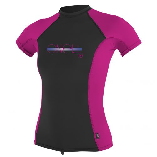 O'Neill - Girls' UV T-shirt - performance fit - pink/black - Front