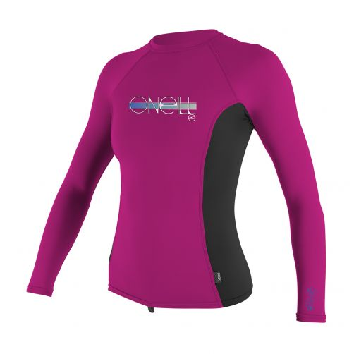 O'Neill - Girls' UV shirt - long-sleeve - pink/black - Front