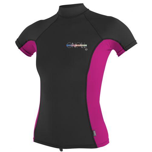 O'Neill---Women's-UV-shirt---short-sleeve---black-/-pink