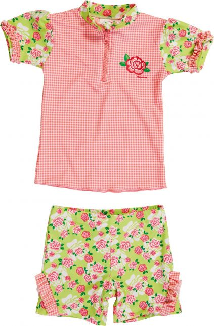 Playshoes - UV Swim Set Kids- Roses - 900