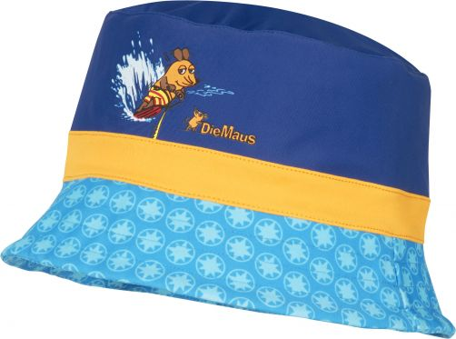 Playshoes - UV sun hat for boys - 'Die Maus' - blue - Front
