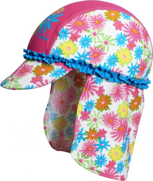 Playshoes - UV Sun cap children - pink flowers - 18
