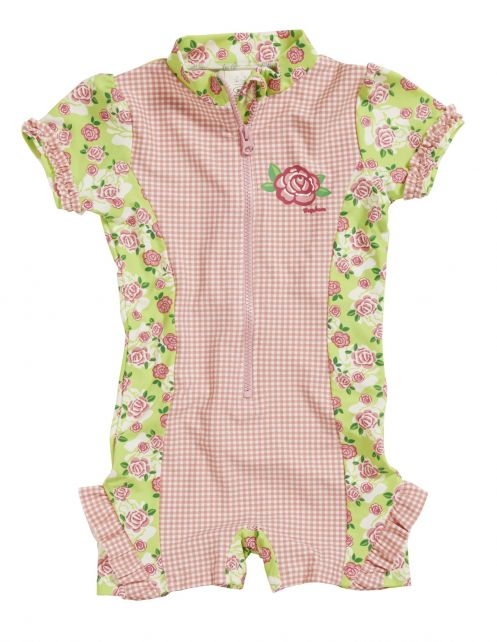 Playshoes - One Piece UV Swimsuit Kids- Roses - 0