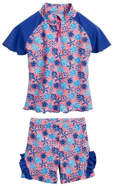 Playshoes - UV swim set - flowers blue - 41