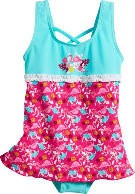Playshoes - UV bathing suit for girls - Skirt - Flamingo - Aqua / blue - Front