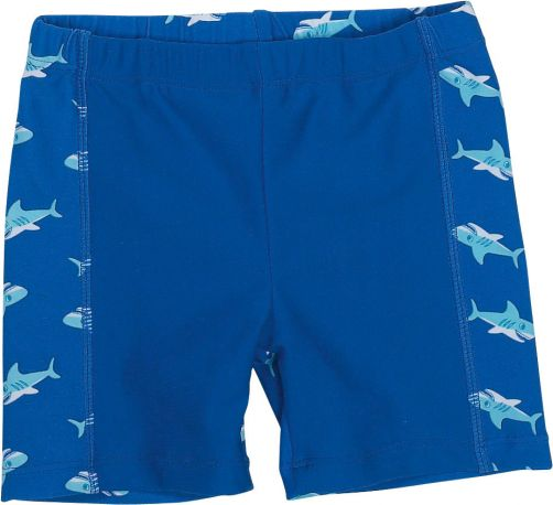 Playshoes - UV swim shorts for boys - Shark - Blue - Front
