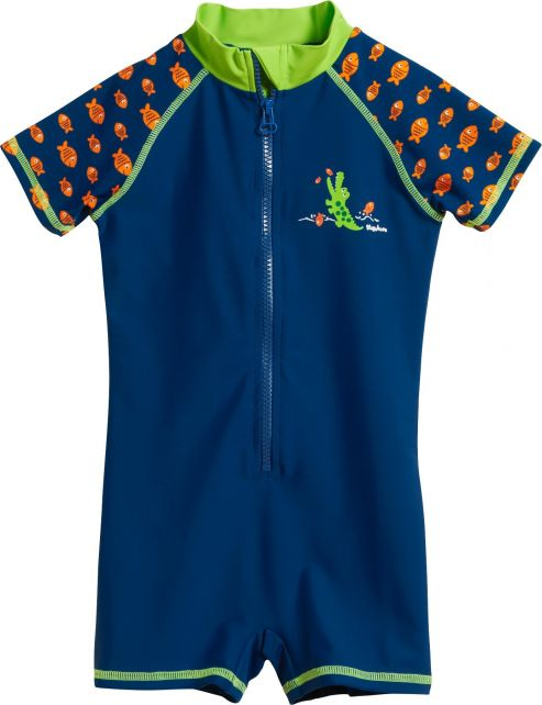 Playshoes - UV swimsuit for boys - Crocodile - Blue - Front