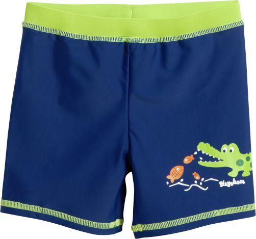 Playshoes - UV swim shorts for children - Crocodile - Blue - Front
