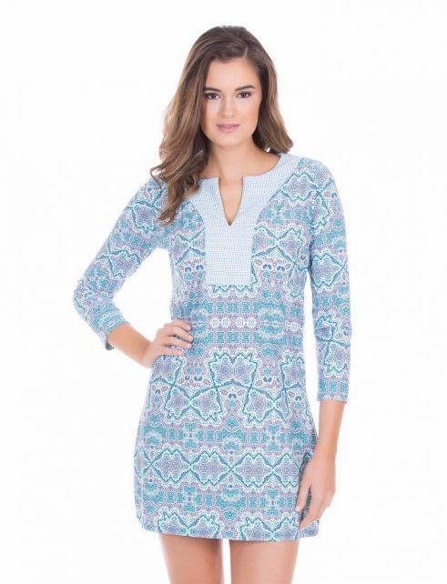 Cabana-Life---UV-resistant-tunic-dress-for-ladies---Blue/White