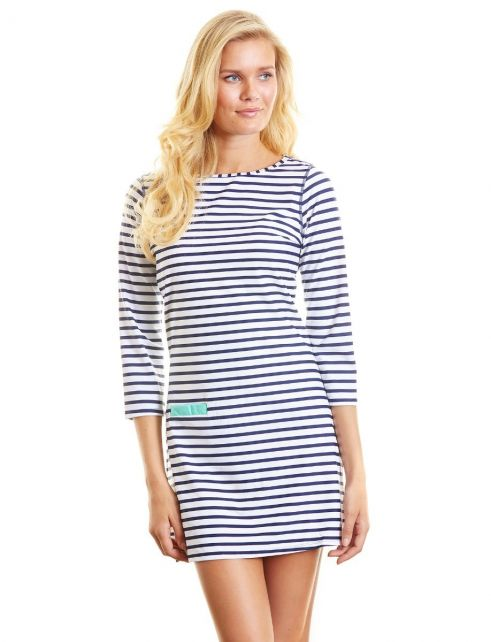 Cabana-Life---UPF-50+-Swim-Dress-Navy-Stripe-Large