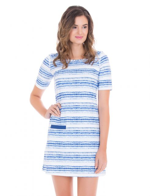 Cabana-Life---UV-resistant-dress-with-short-sleeves-for-ladies---Blue/White