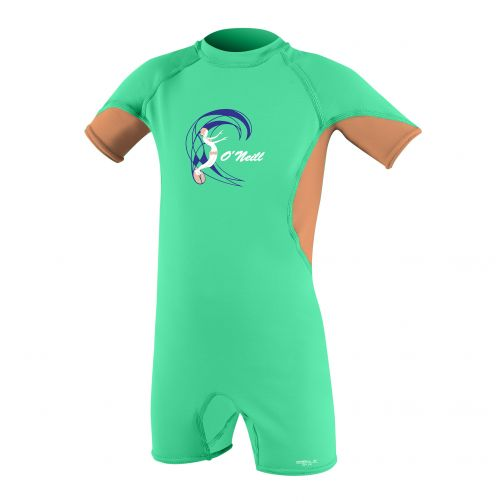 O'Neill - Girls' UV swimsuit - slim fit - green/orange - Front