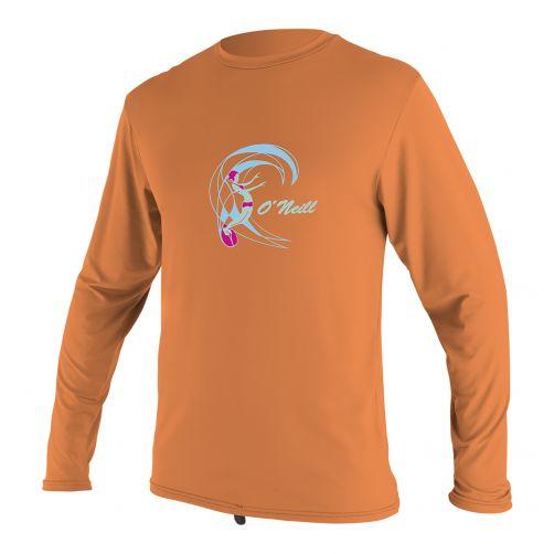 O'Neill - Girls' UV swim shirt - long sleeved - papaya - Front
