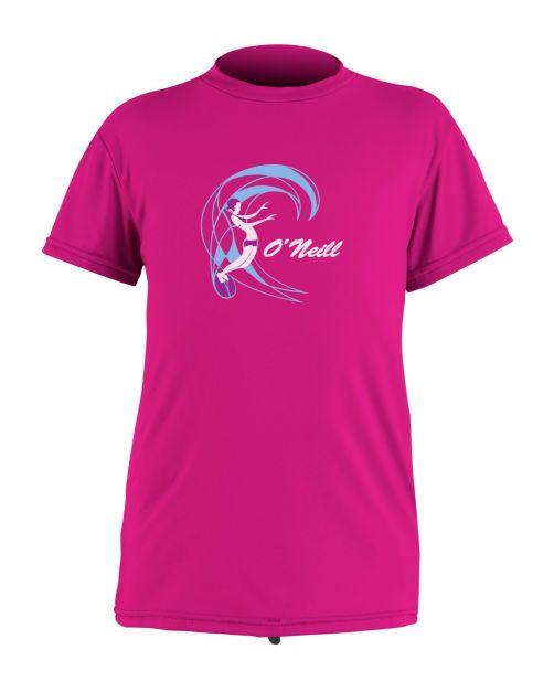 O'Neill - Girls' UV swim shirt - short-sleeved - berry - Front