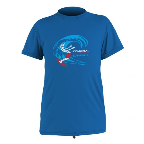 O'Neill - Kids' UV swim shirt - short sleeved - ocean - Front