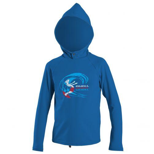 O'Neill - Boys' UV swim hoodie - long sleeved - ocean - Front
