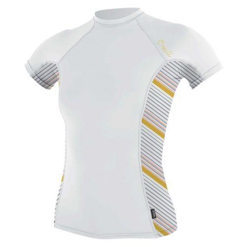 O'Neill---Women's-UV-shirt---Short-Sleeves---Rash-Guard---White