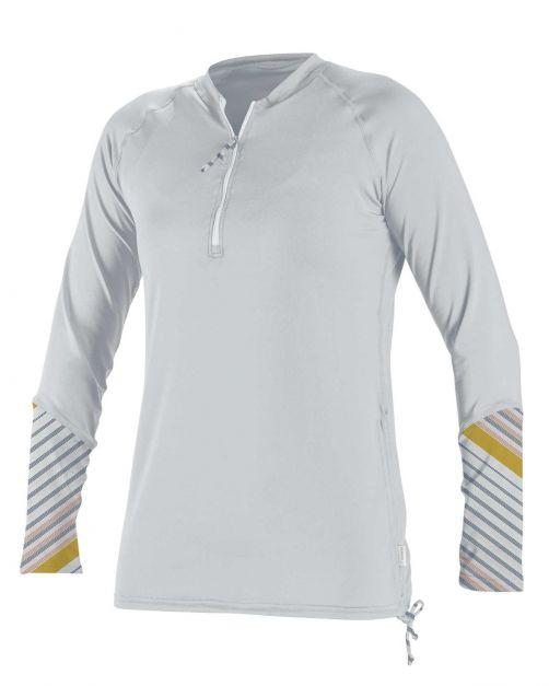 O'Neill---Women's-UV-shirt---Longsleeve---Front-Zip---White