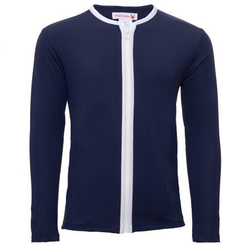 Petit Crabe - UV jacket longsleeve - Star - Navy - Front