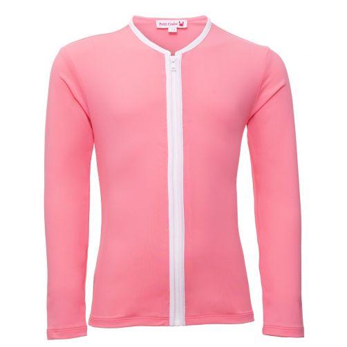 Petit Crabe - UV jacket longsleeve - Star - Pink - Front