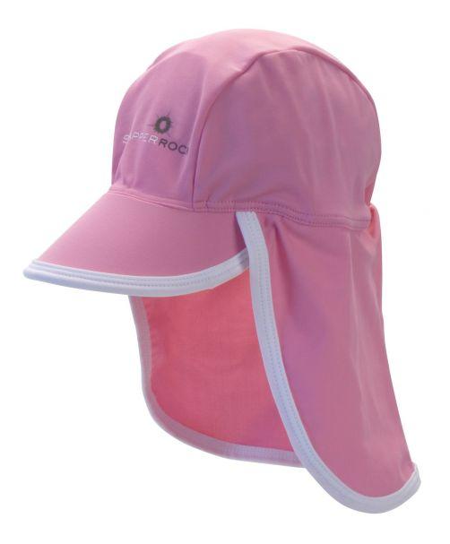 Snapper Rock - UV Baby Flap Hat- Pink/White Trim - 0
