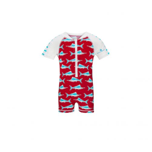 Snapper Rock - Red Swordfish SS Sunsuit - 0