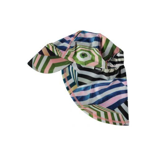 Molo - UV sun cap with neck flap for kids - Nando - Parasol print - Front