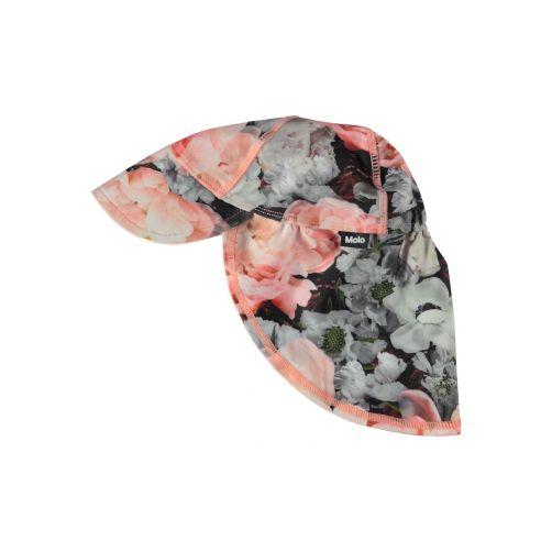 Molo - UV sun cap with neck flap for kids - Nando - Blossom print - Front