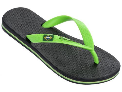 Ipanema - Flip-flops for boys - Classic Brasil - black / green - Front